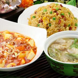 五目炒飯+マーボー豆腐セット