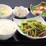 豚肉とニンニクの芽炒めセット